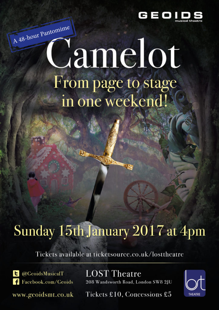 Camelot: A 48-Hour Pantomime - Sunday 15th January 2017, 4pm